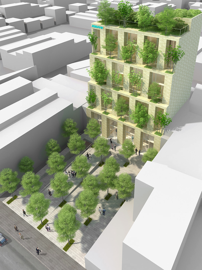 Trees Building for ABBANK Proposal / Vo Trong Nghia Architects