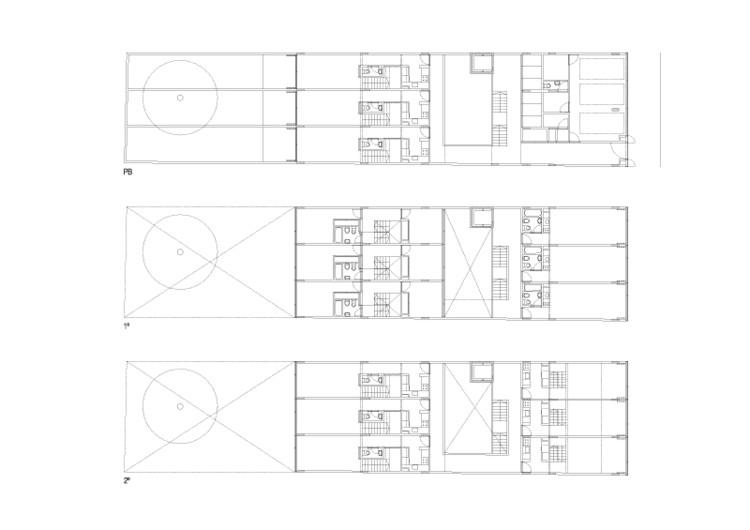 Planta baja y pisos 1 y 2