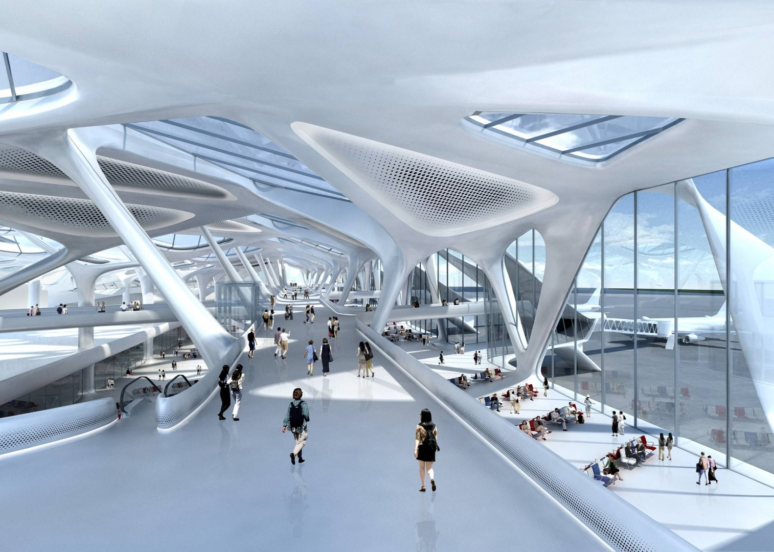 Zaha Hadid to Develop Plans for New London Airport , Zagreb Airport Competition Proposal / ZHA © Zaha Hadid Architects