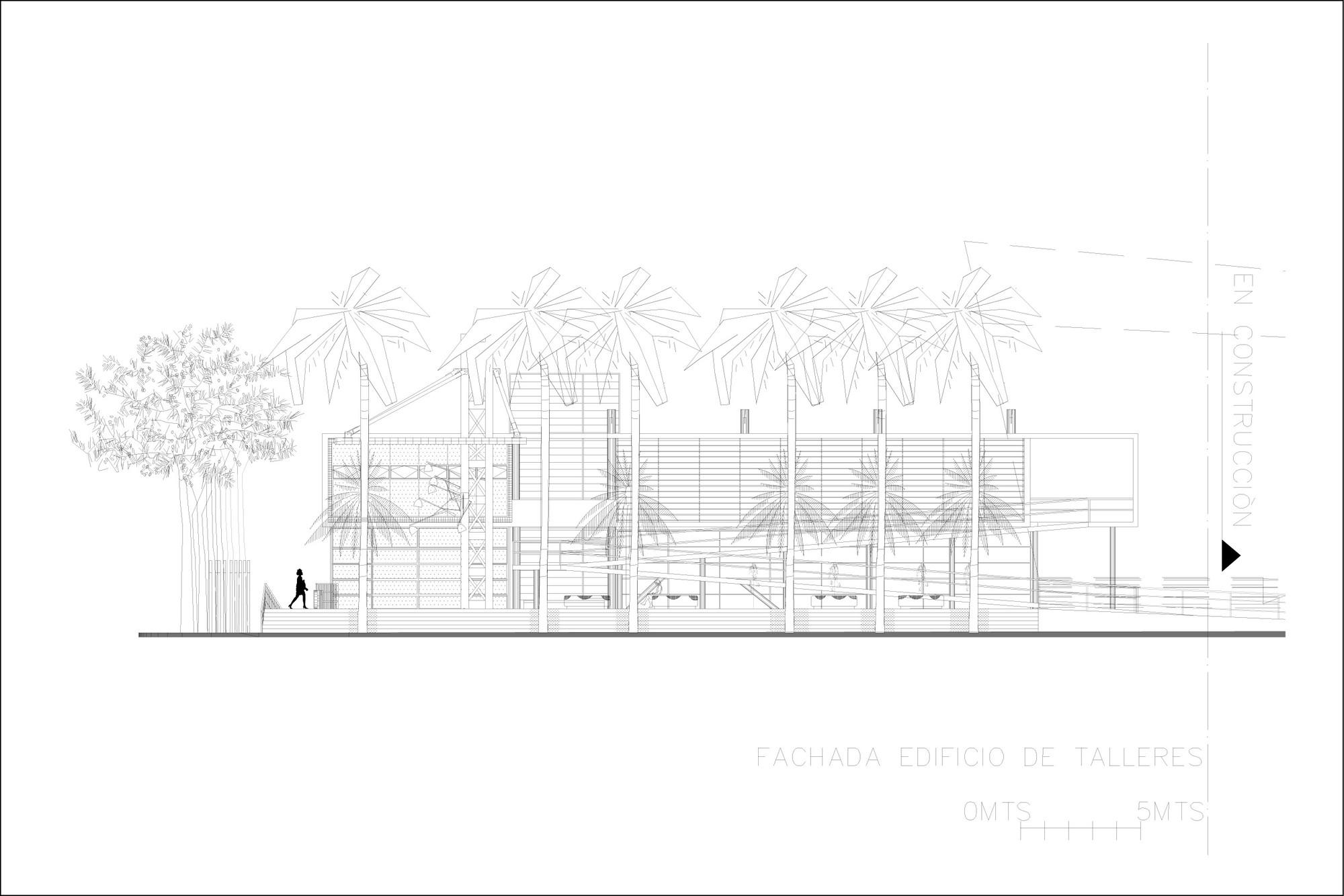 fachada edificio talleres