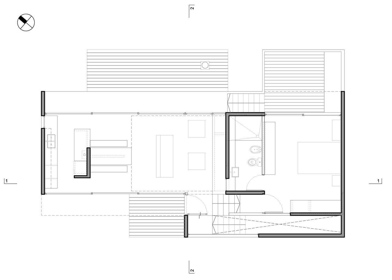 Galer a de casa cher bak arquitectos bak architects 21 - Planos de arquitectos ...