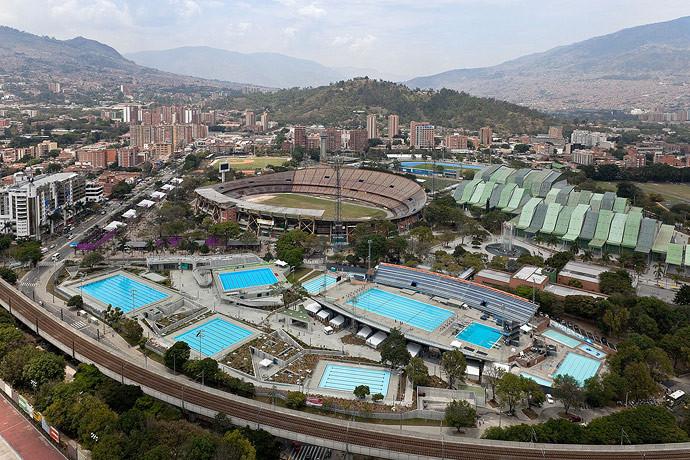 Complejo acuático para los IX Juegos Suramericanos / Paisajes Emergentes, © Iwan Baan