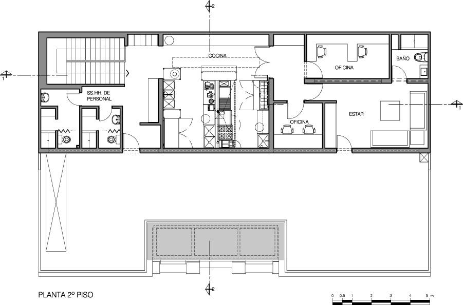 Galer a de pub art deco lounge seinfeld arquitectos 11 for Plantas de oficinas arquitectura