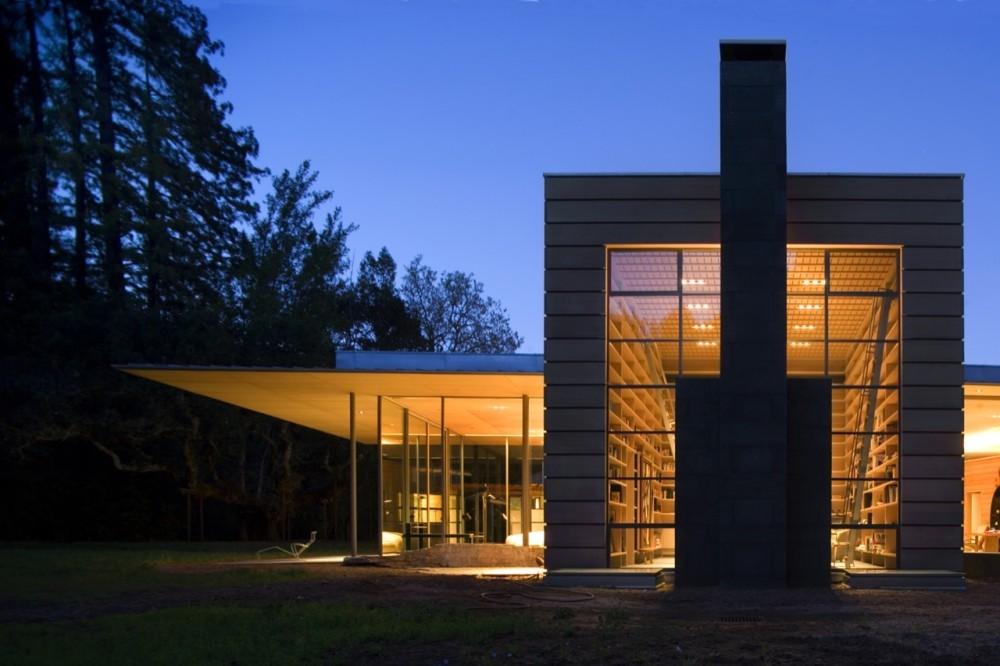 Residencia Creekside / Bohlin Cywinski Jackson, © Nic Lehoux