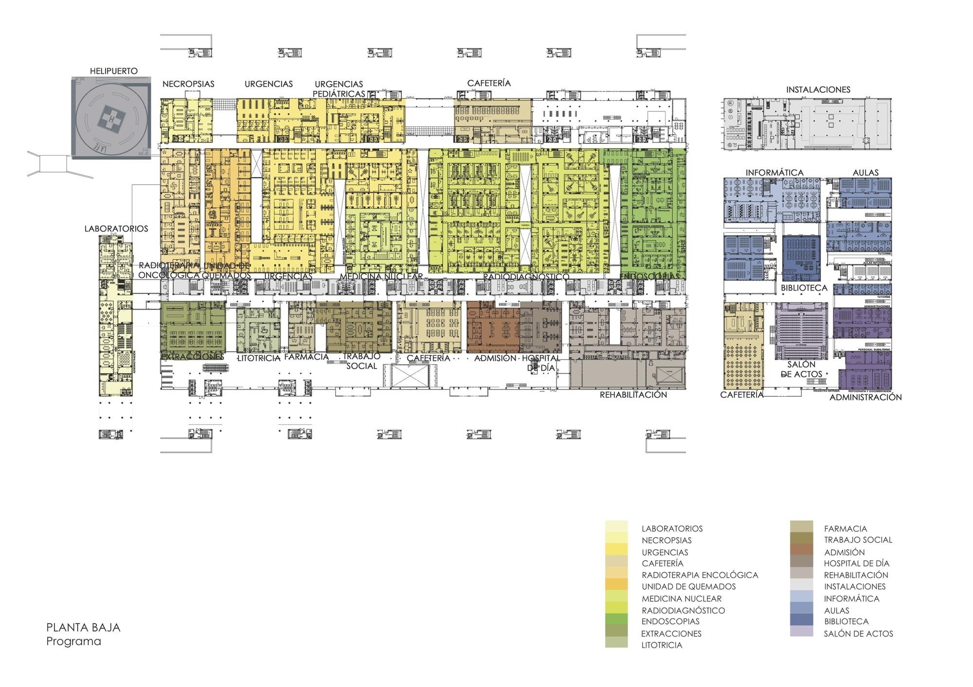 Nuevo hospital universitario la fe de valencia ramon for Biblioteca programa arquitectonico