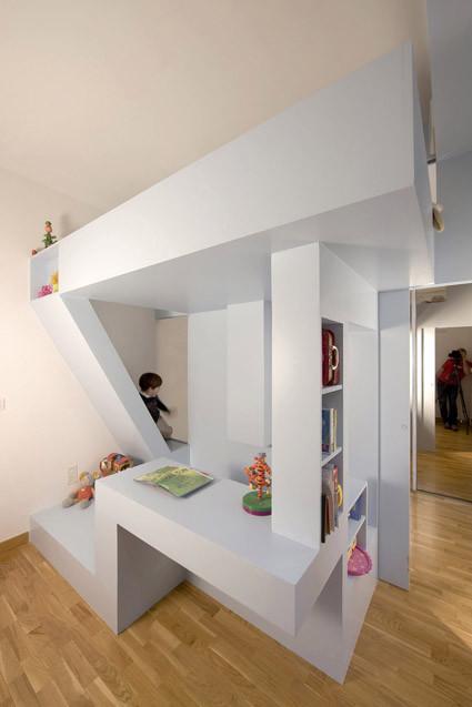 Dormitorio de Eva / h20 architectes, © Stéphane Chalmeau