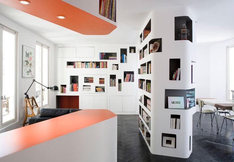 """Departamento """"delante y reverso"""" / h20 architects, © Julien Attard"""