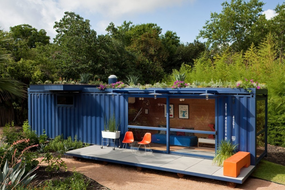 Casa-Container para invitados / Poteet Architects, © Chris Cooper