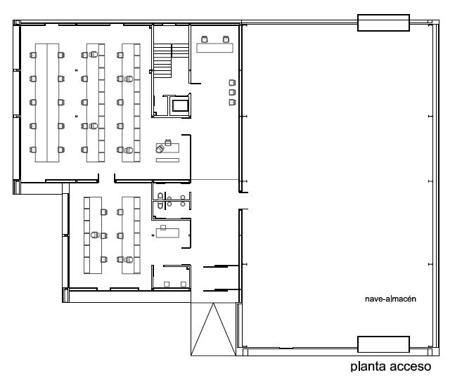 Planta Nivel Acceso © CSO arquitectura + ALT arquitectura