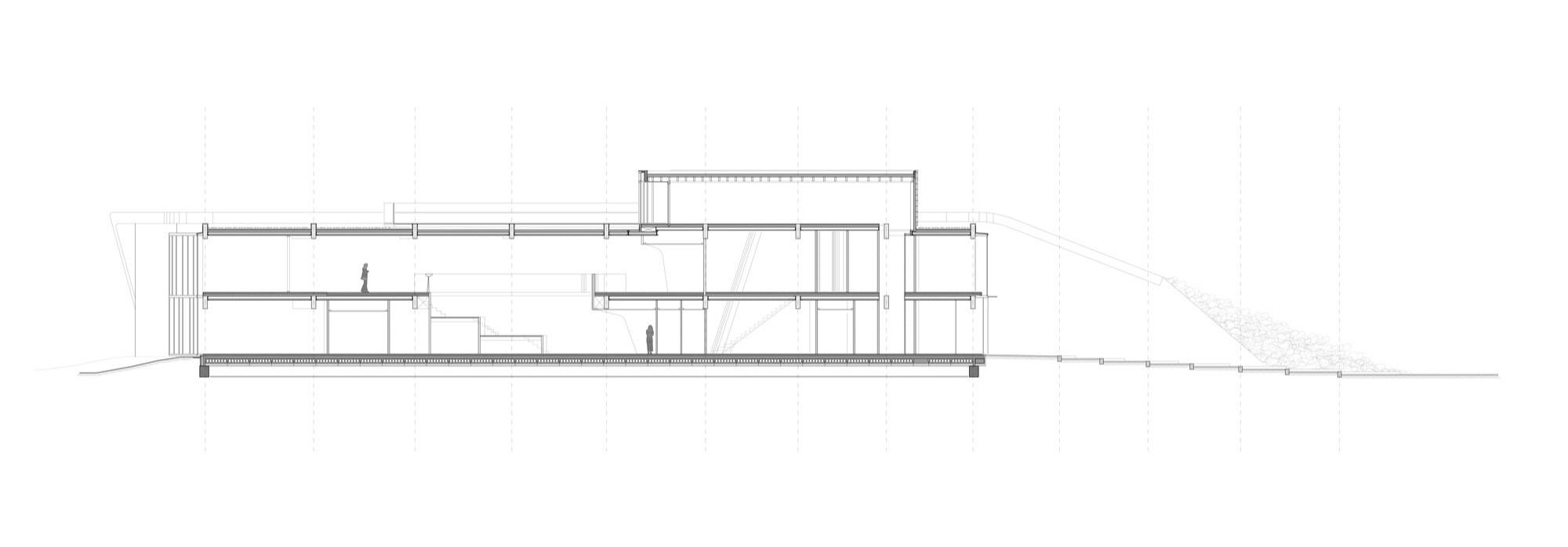 Corte 1 © 24H Architecture