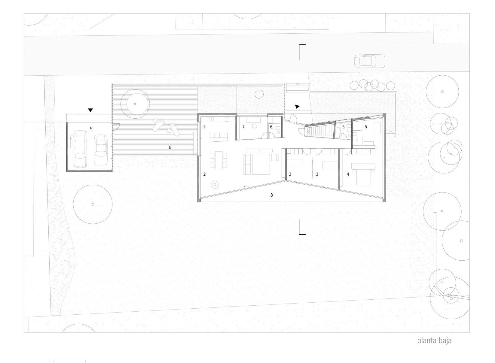 Planta Primer Nivel © bauzeit architekten