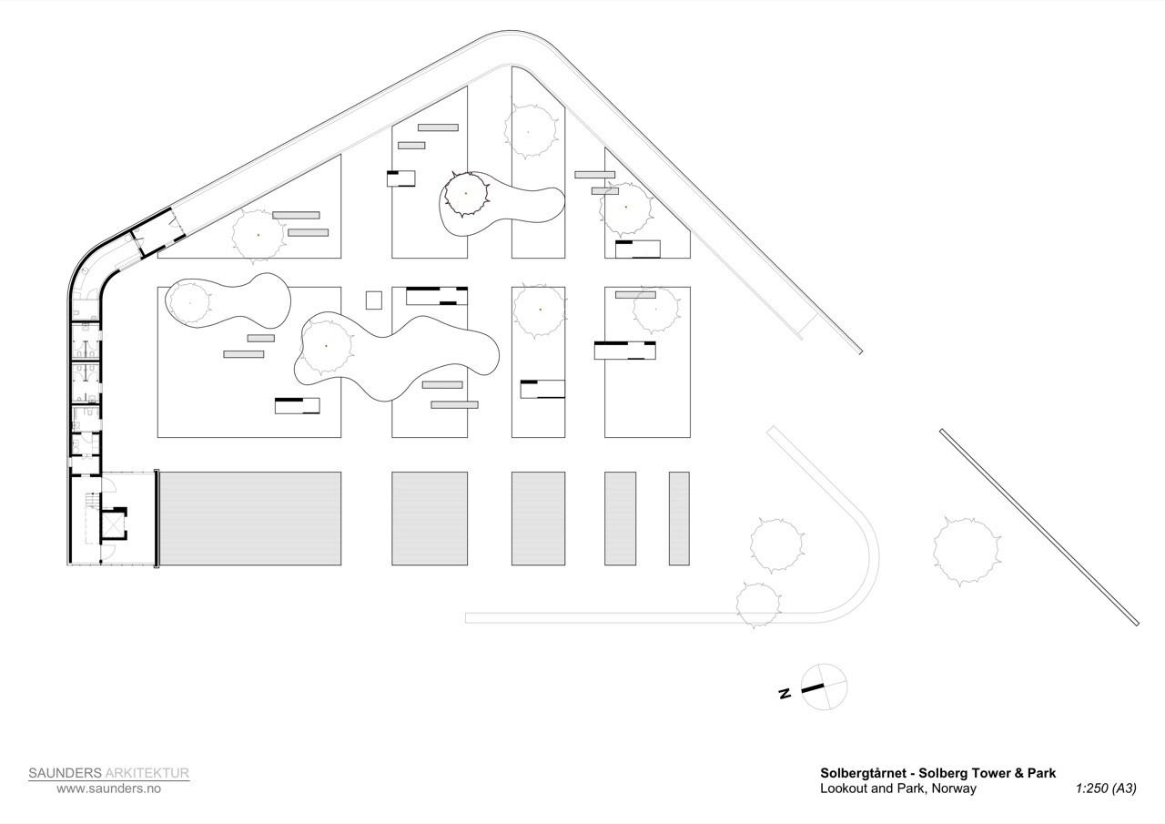 Planta © Saunders Architecture