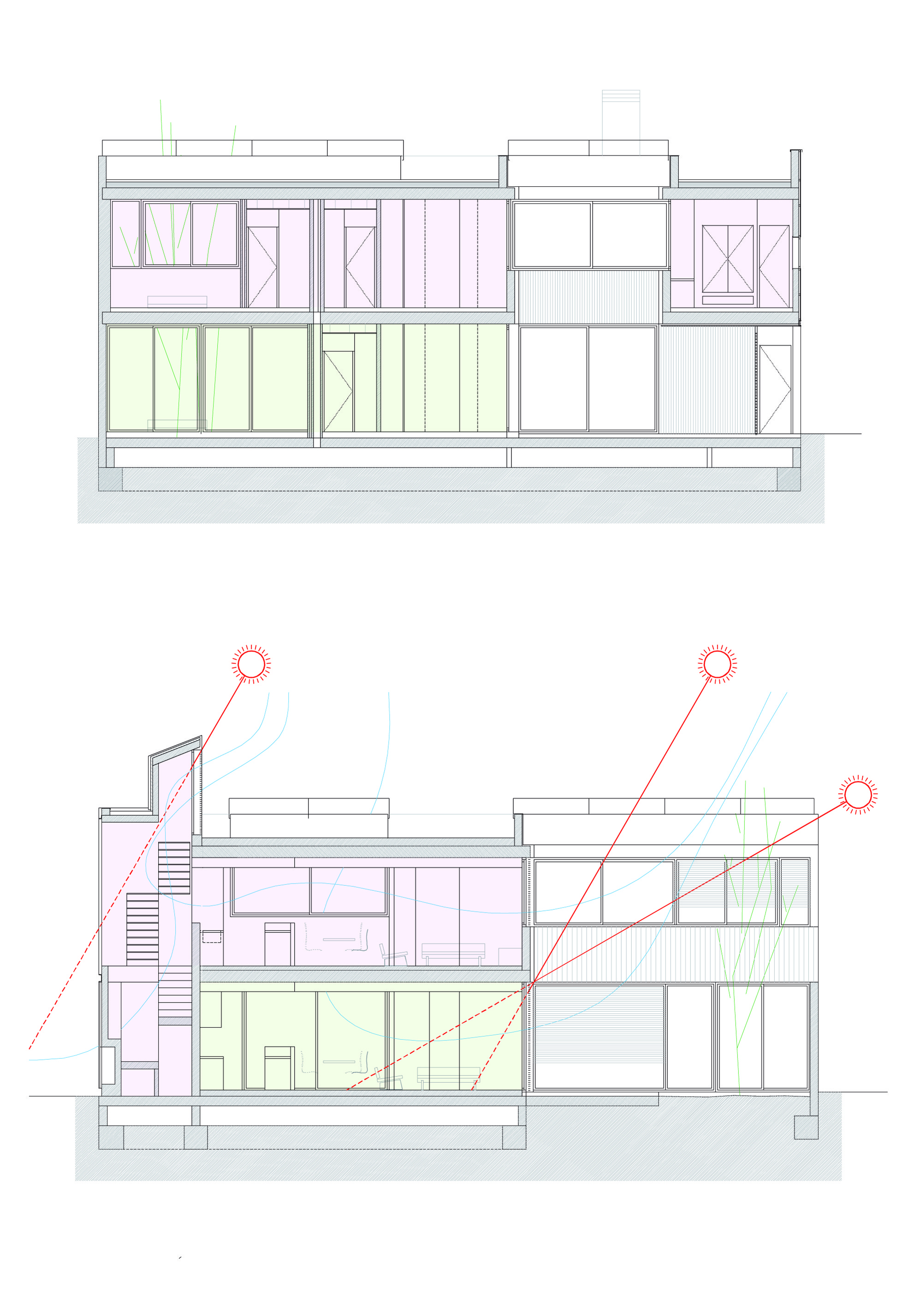 Cortes © Flexo Arquitectura