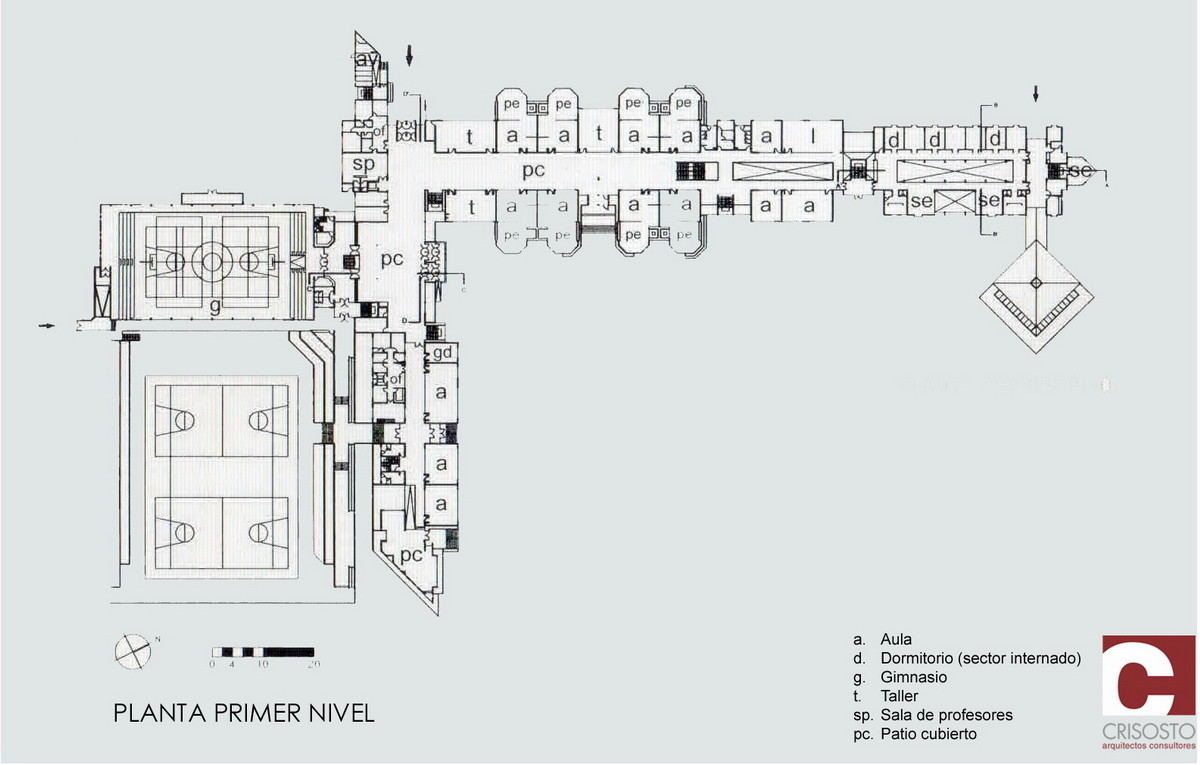 Planta Primer Nivel © Crisosto Arquitectos Consultores