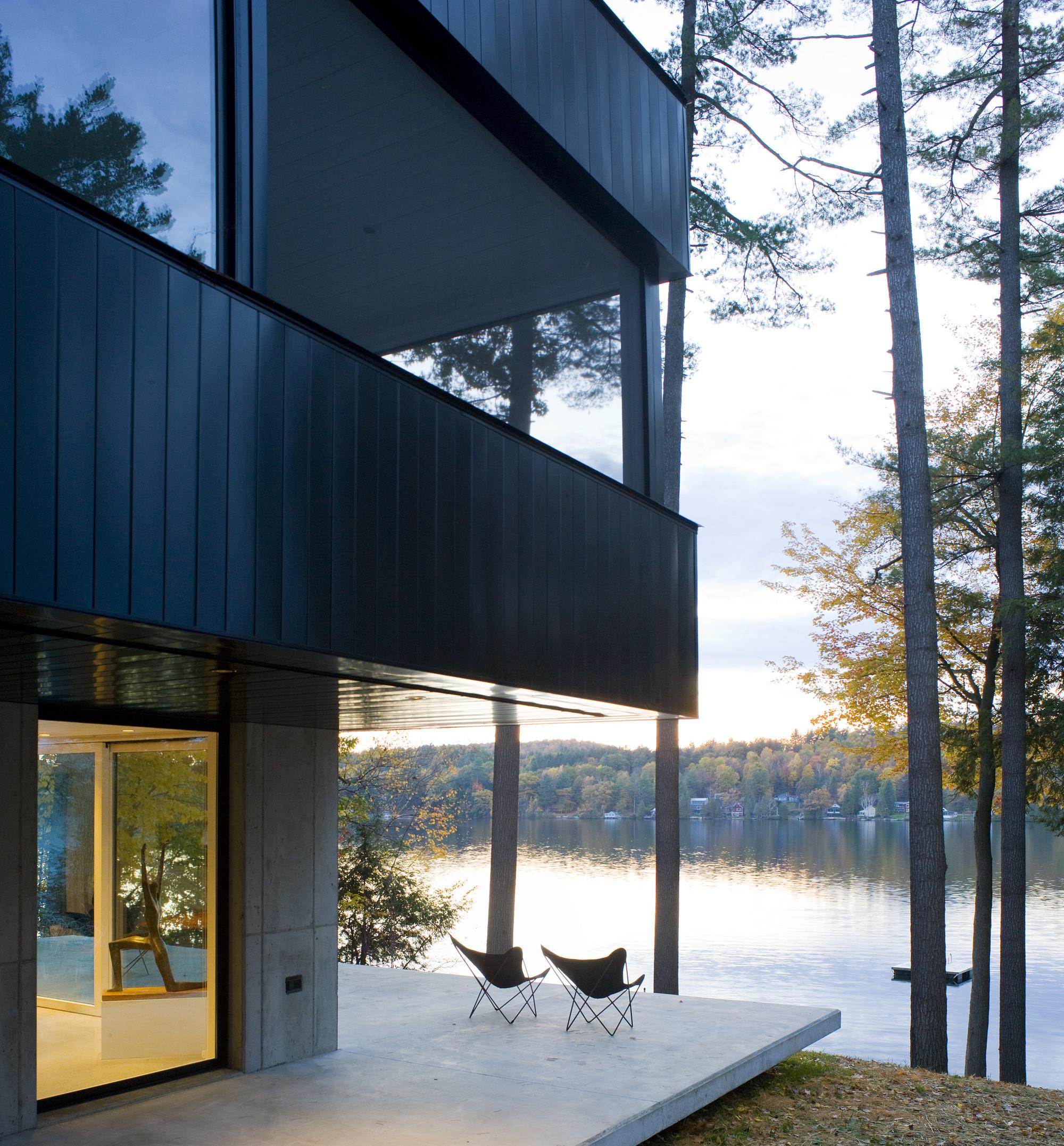 Gallery Of Cantilever Lake House Birdseye Design 10