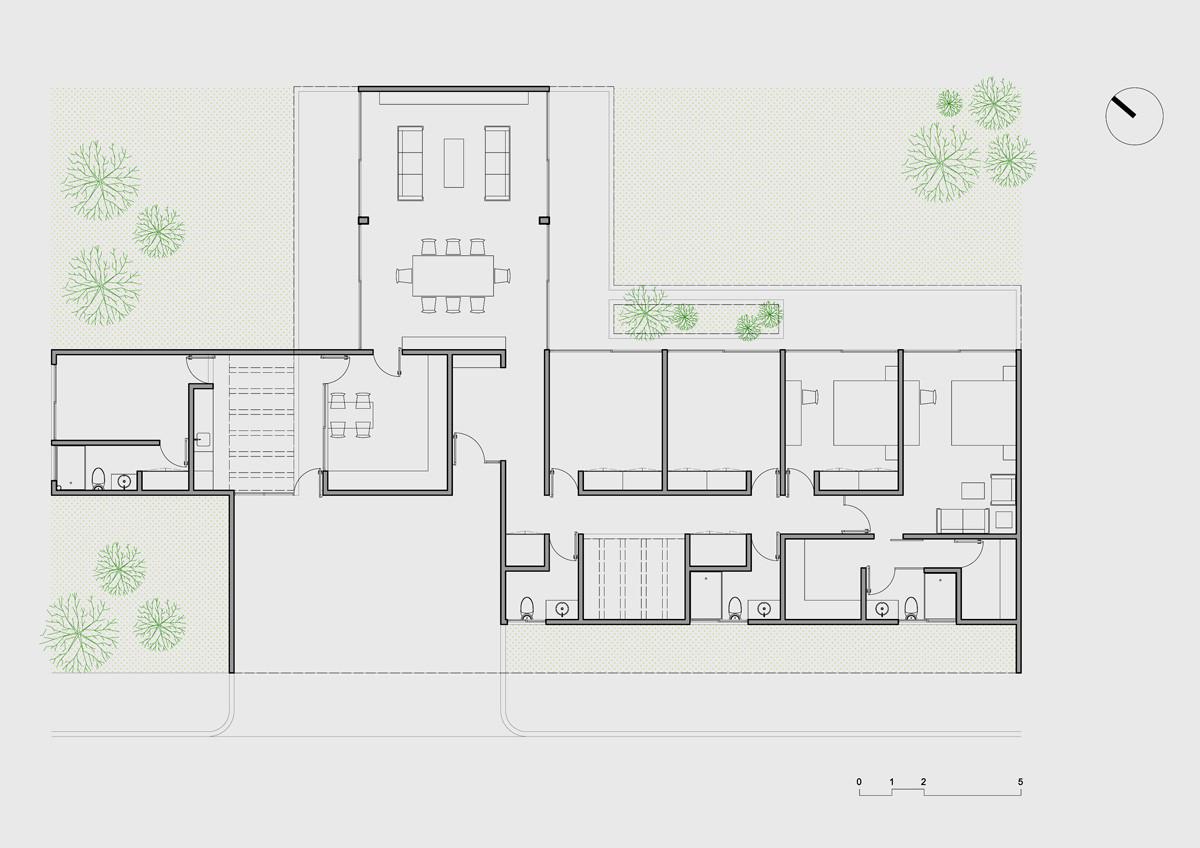 Galer a de casa ponce couti o ponce arquitectos 23 for Plantas de colegios arquitectura