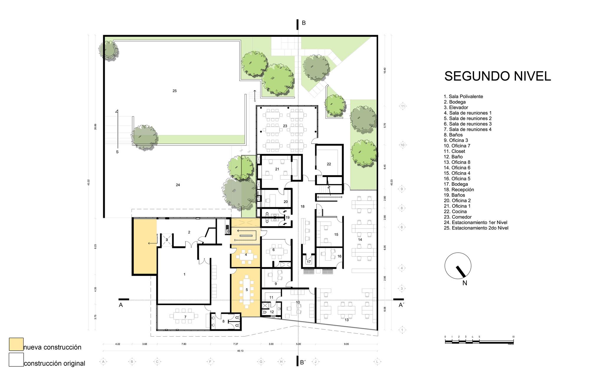 Edificio de oficinas total test aa c v arquitectos for Oficinas planta arquitectonica