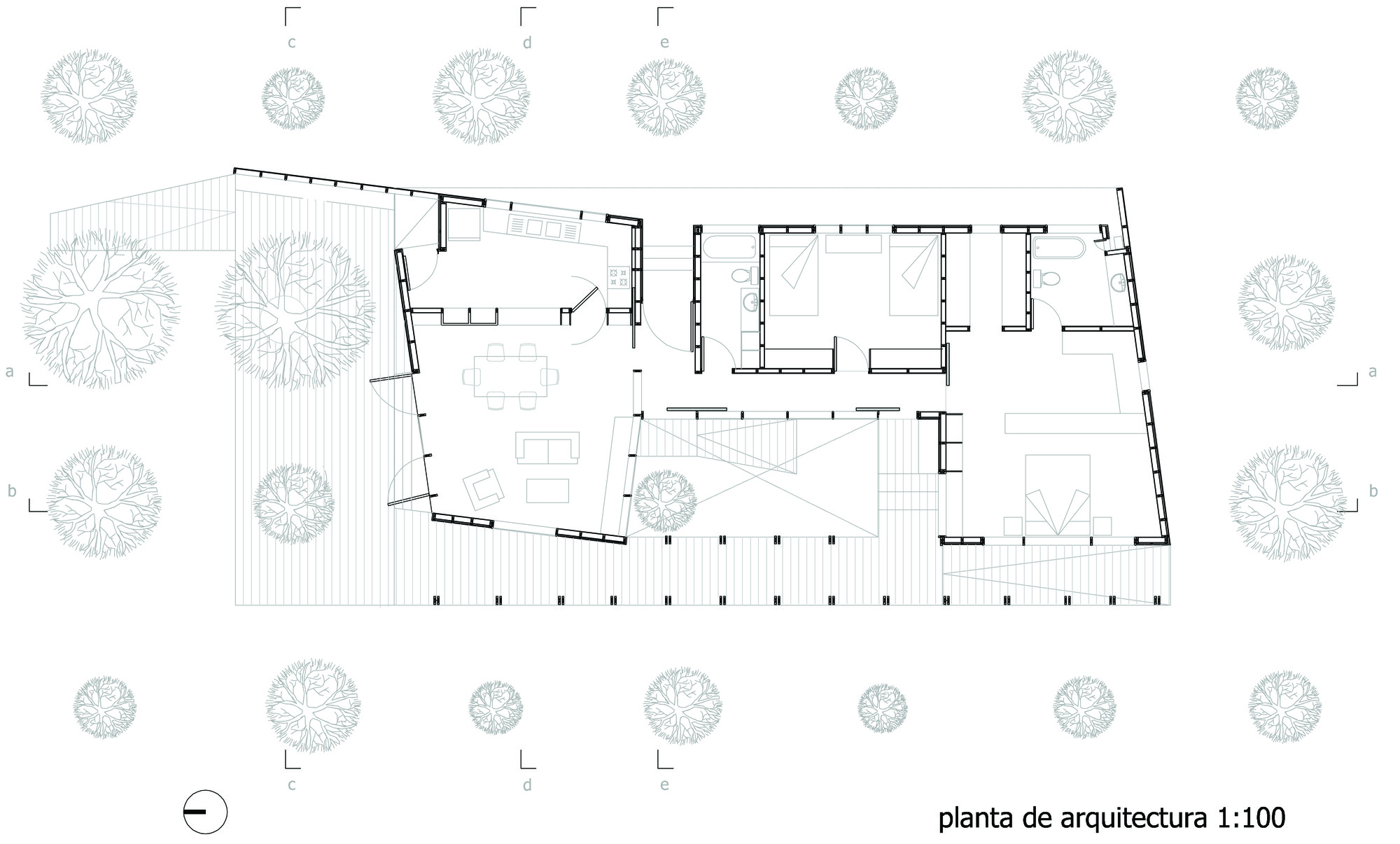 Casa lo ca as francisco abarca y camilo palma for Plantas de arquitectura