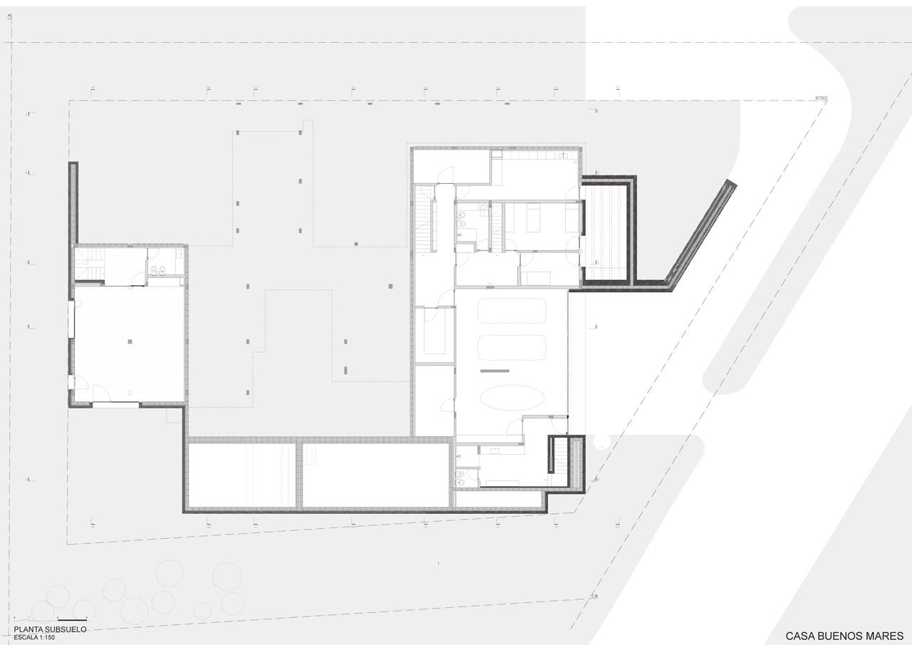 gallery of buenos mares house rdr arquitectos 17 basement floor plan