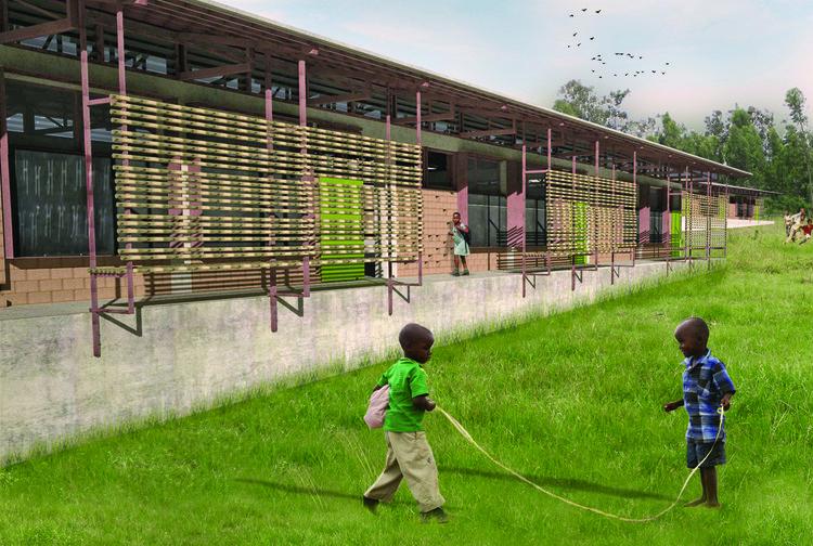Escuela Shebraber / Ethiopia Studio 2.0, Exterior Plaza