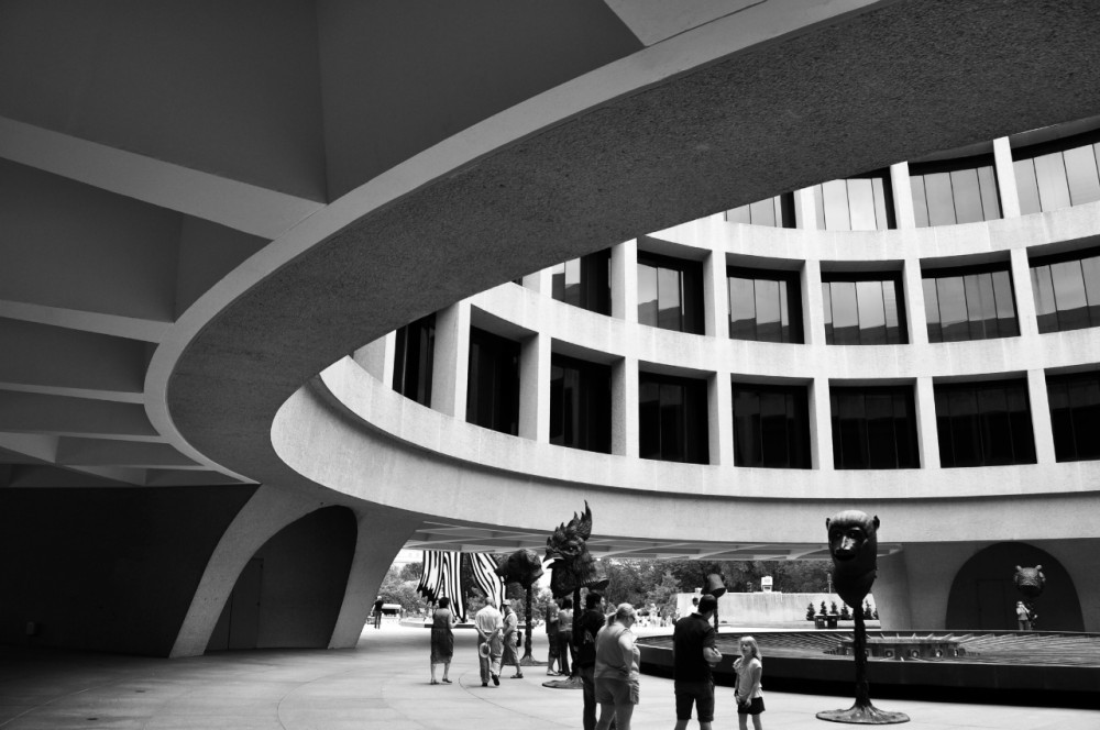 Smithsonian Hires BIG to Rethink Historic D.C. Campus, Hirshhorn Museum and Sculpture Garden featuring Ai Weiwei: Circle of Animals / Zodiac Heads © Karissa Rosenfield / ArchDaily