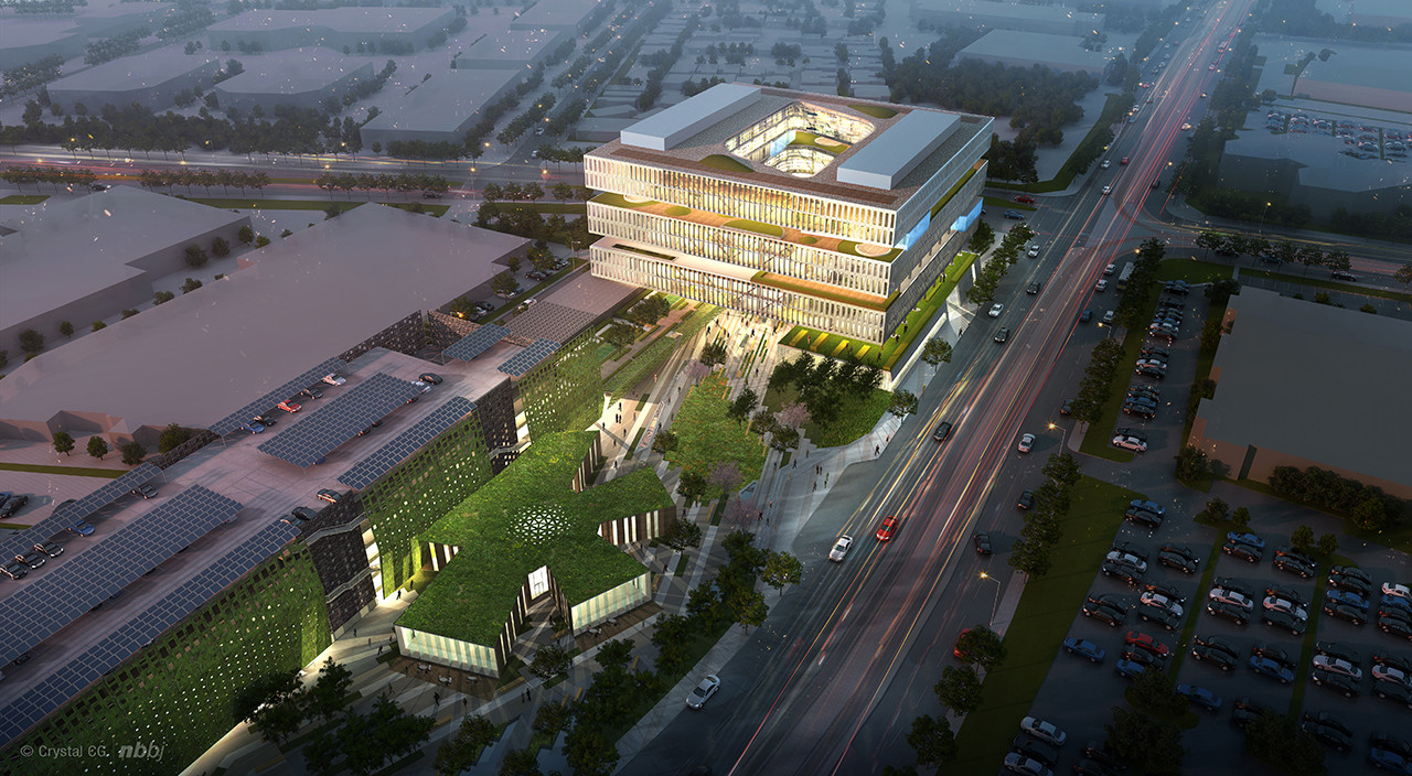 NBBJ's Samsung Headquarters Addition to Silicon Valley's Architectural Transformation, Samsung Headquarters / NBBJ