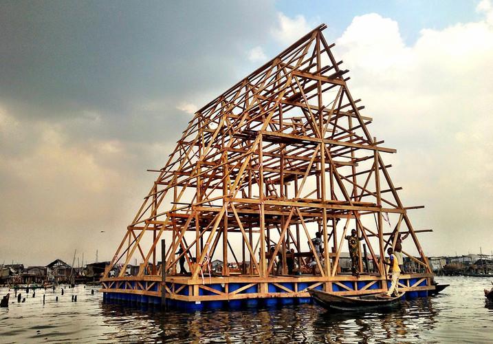 Escuela Flotante en Makoko / NLÉ Architects, Vía Gizmag