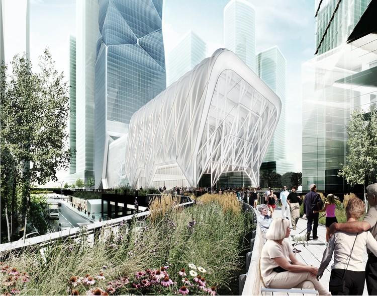 """Diller Scofidio + Renfro diseñan telescópico """"cobertizo cultural"""" para Nueva York, © Diller Scofidio + Renfro and Rockwell Group"""
