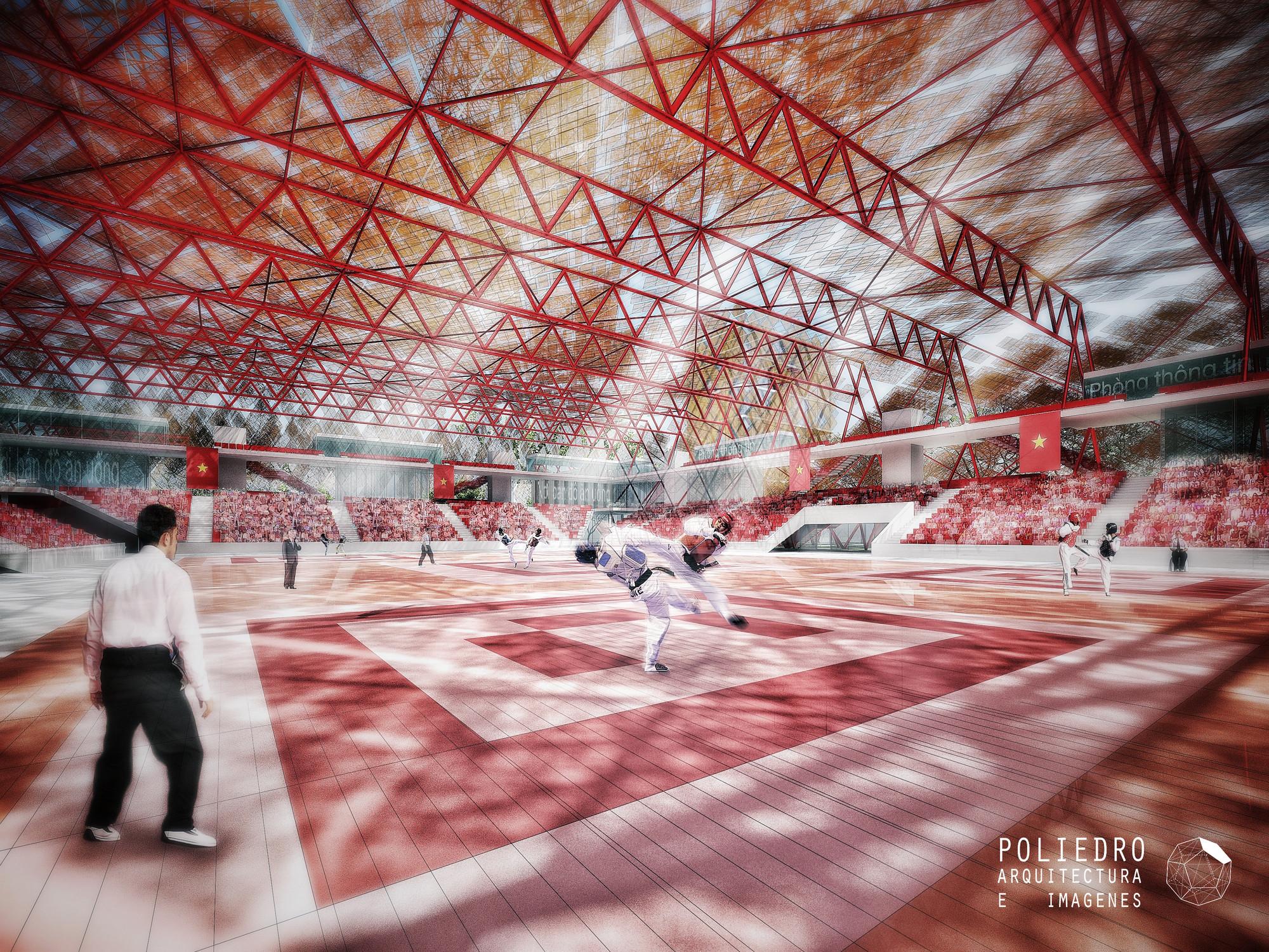 Centro de Deportes en Ho Chi Minh.2012. Arquitectos: ACXT