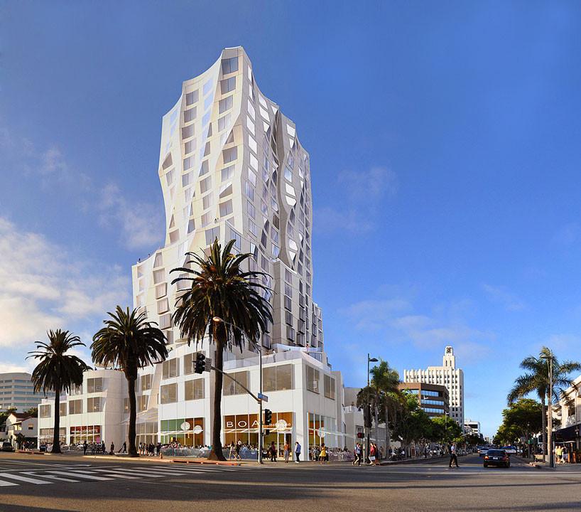 Gehry Diseña Torre de Uso Mixto en el Centro de Santa Monica, © Gehry Partners