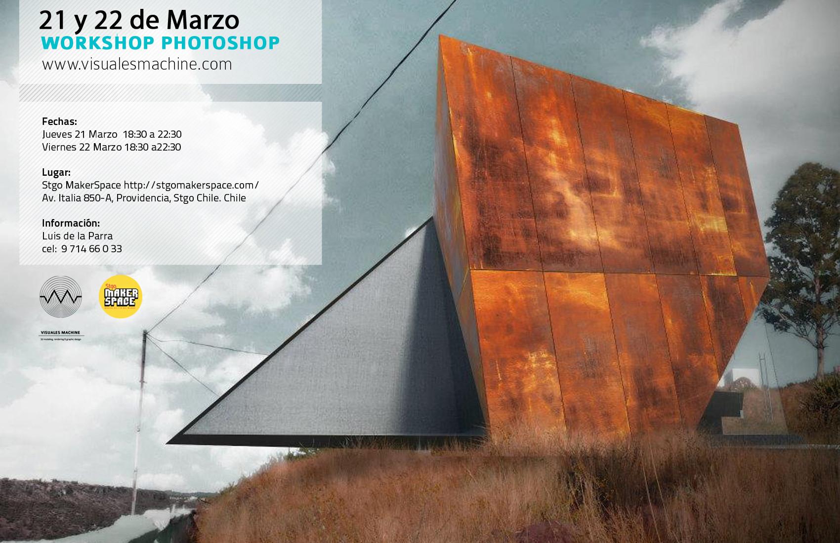 Workshop Photoshop en Santiago de Chile / Visuales Machine [¡Sorteamos un Cupo!]