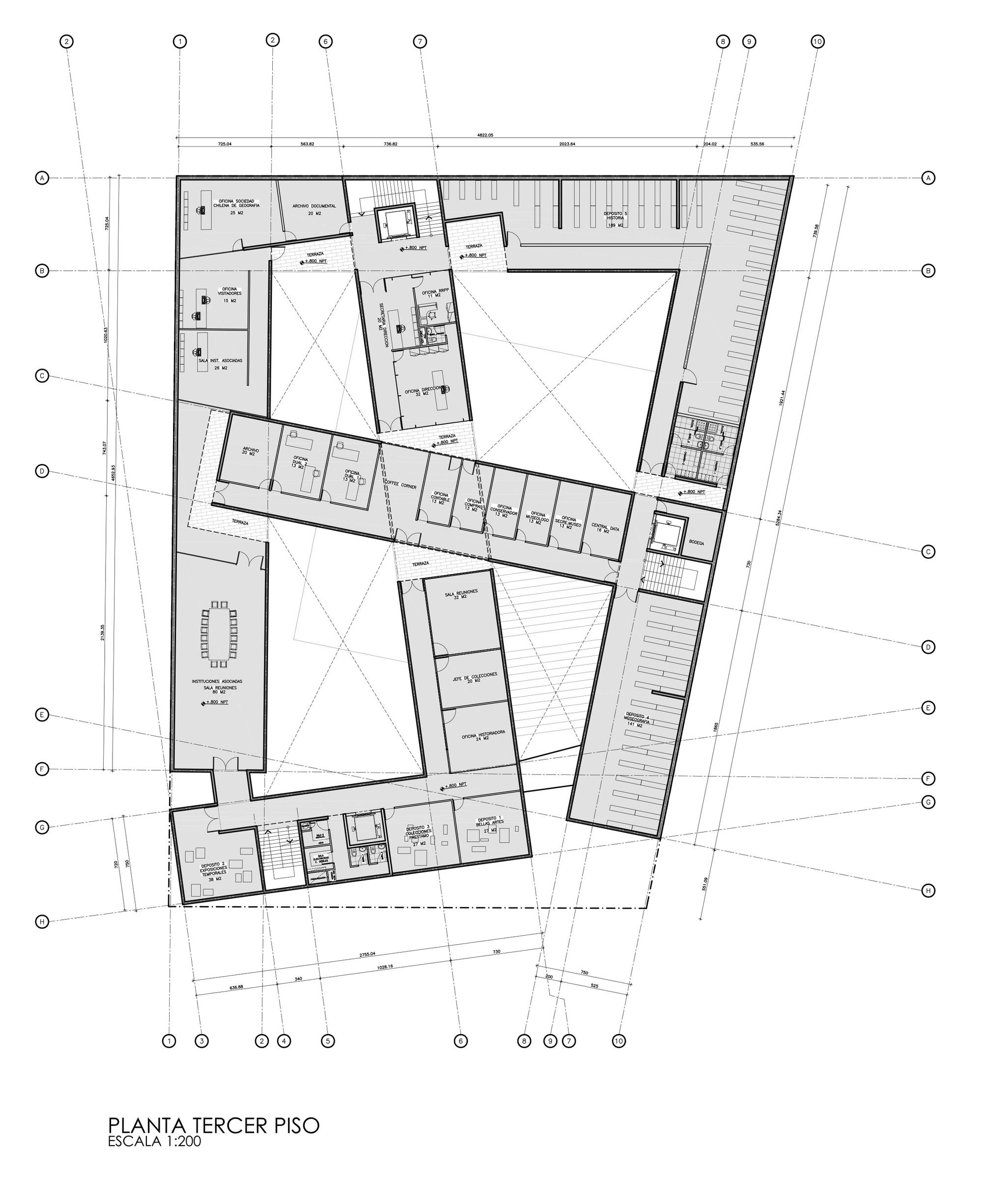 Galer a de propuesta para el museo regional de atacama for Plantas de colegios arquitectura