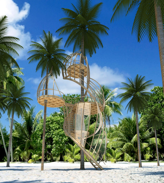 Treehouses in Paradise Competition: Taking something from a SCAM, Courtesy of Gensler