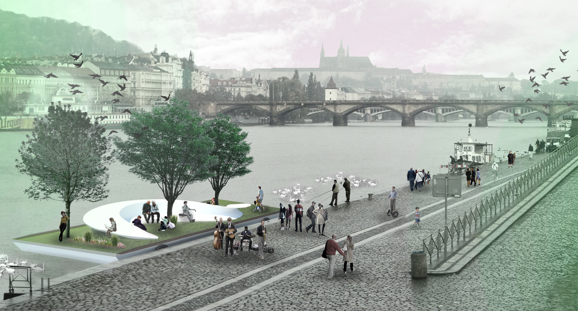 Prague Activators Proposal / Juras Lasovsky, Zuzana Masna, Koen Hezemans, Courtesy of Juras Lasovsky, Zuzana Masna, and Koen Hezemans