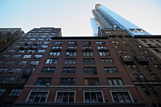 The air rights to 140 West 58th Street were bought by the developer of the 90-story One57. Image via The New York Times
