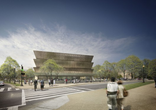 Rendering of Smithsonian National Museum of African American History and Culture. © Adjaye Associates.