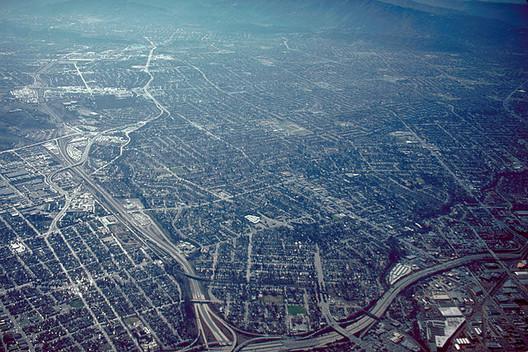 Aerial view of San José, California, USA. Image via Wikimedia Commons User Robert Campbell