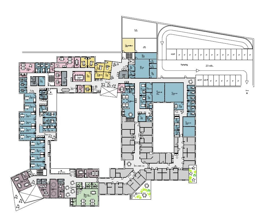 New healthcare center winning proposal nord architects for Floor plans health care facilities