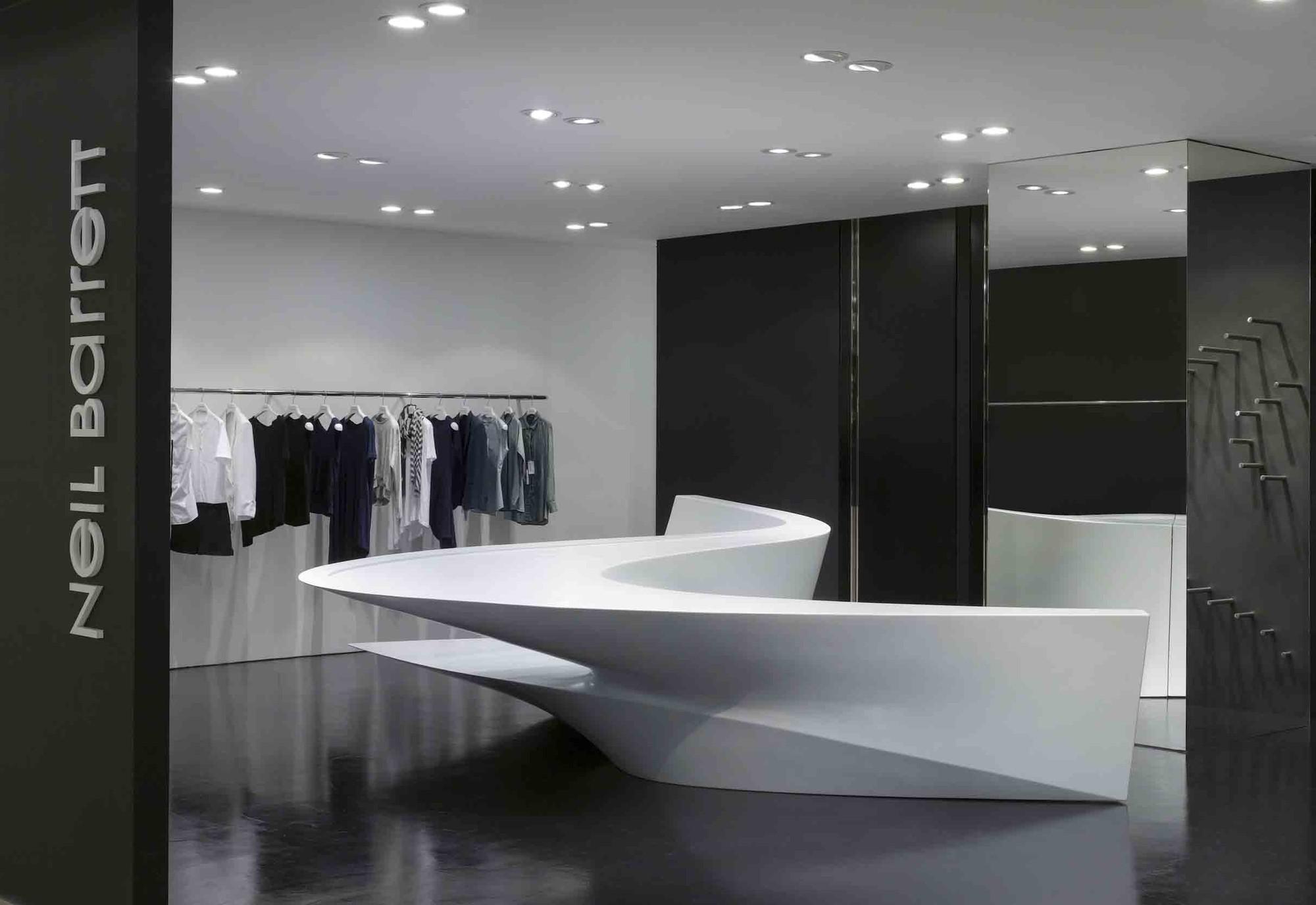 Neil Barrett Shop In Shop Zaha Hadid Architects