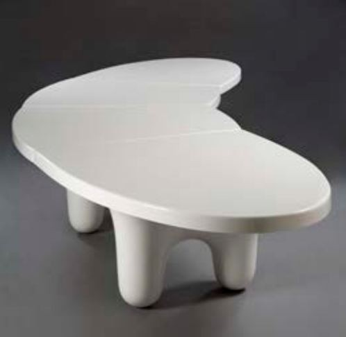 "Wendell Castle, ""The White Edition"" Big Table, Originally designed 1970, USA with limited editions 2006-2011 / © Sherry Griffin/R 20th Century"