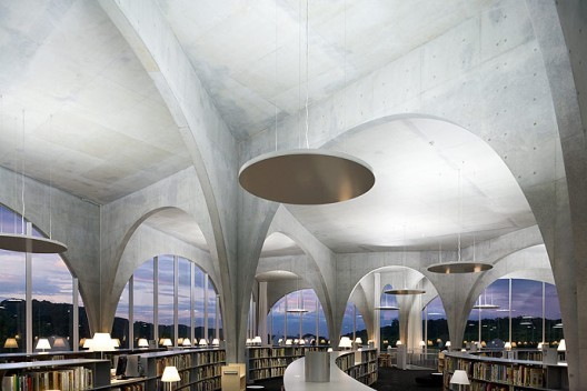 Tama Art University Library. Image © Iwan Baan.