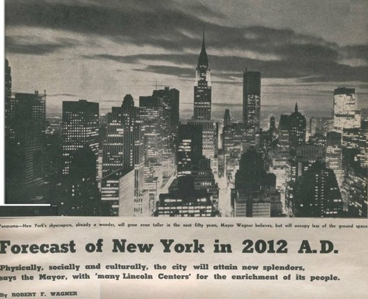 New York in 1962, Mayor Robert Wagner's Predictions