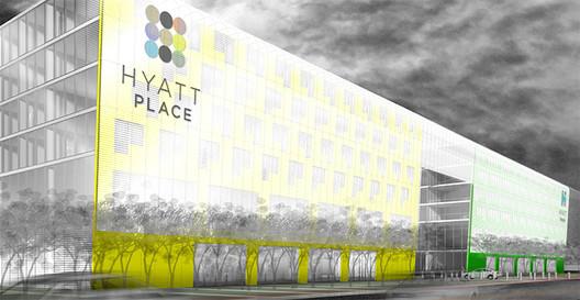 Hyatt Hote / Helmut Jahn Fountainhead Quad Cities; Developer J. Paul Beitler of Beitler Real Estate Services