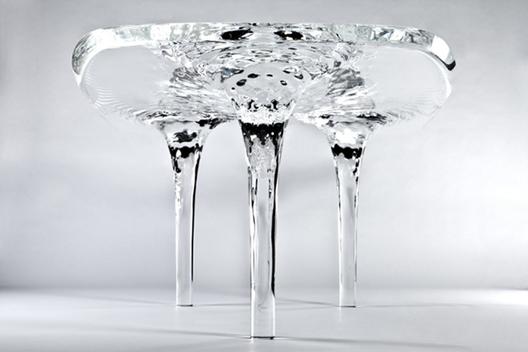 Zaha Hadid diseña mesa que pareciera ser de hielo, © Jacopo Spilimbergo