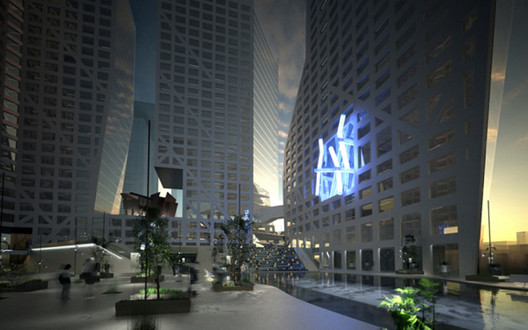 "Courtesy of dexigner.com - ""Light Pavilion"" at Chengdu Tower."