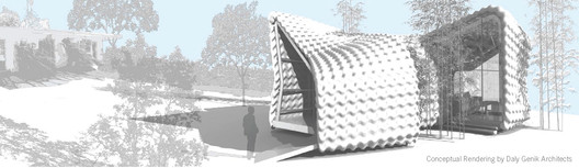 Backyard Homes Conceptual Rendering, image courtesy Daly Genik Architects