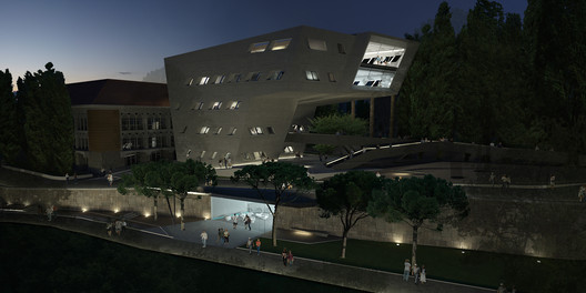 The Issam Faris Institute at the American University of Beirut's Historic Campus. Image © Zaha Hadid Architects.