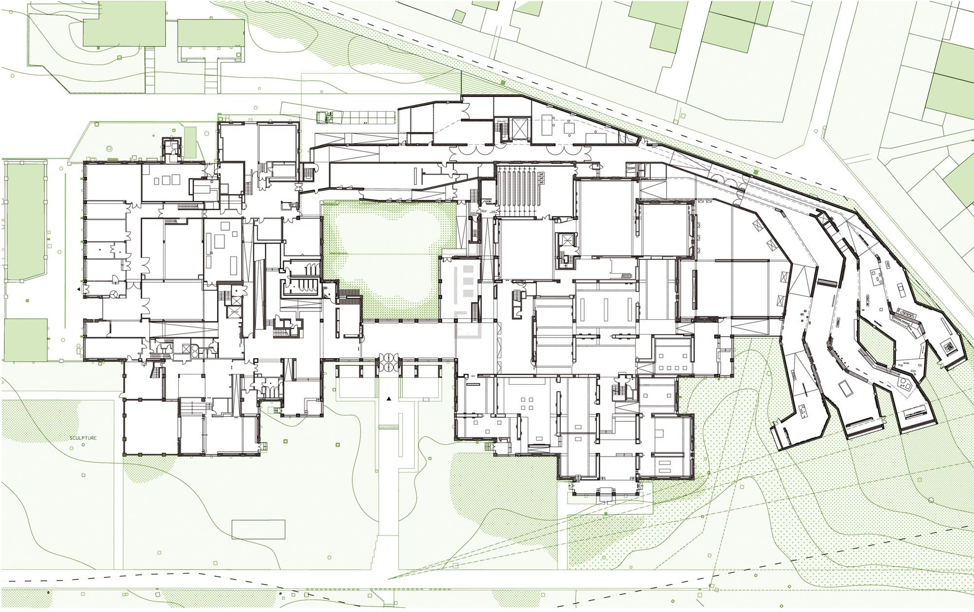 Lille modern art museum manuelle gautrand architecture for Architectural plans