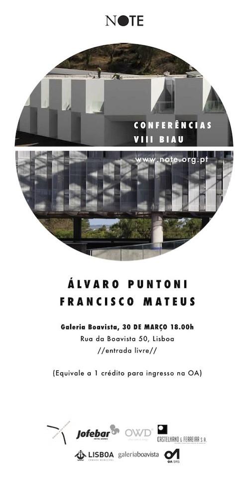 Conferencia Francisco Mateus y Alvaro Puntoni, Cortesia de Note