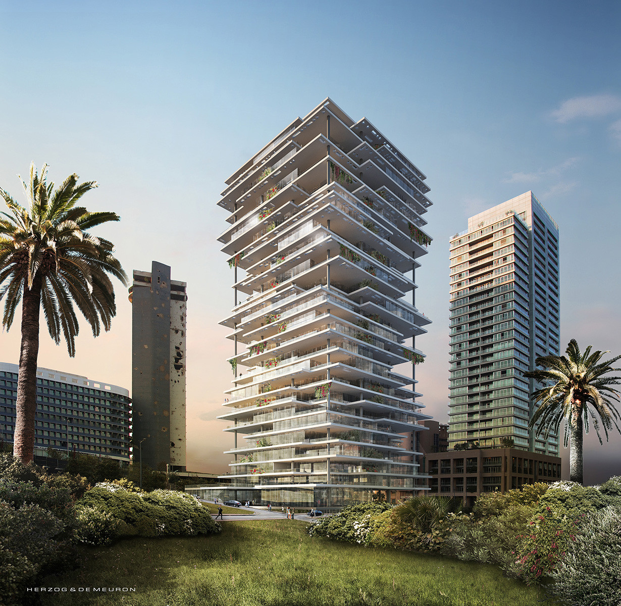 Beirut Terraces / Herzog & de Meuron, Courtesy of Benchmark